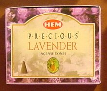 Precious Lavender - Case of 12 Boxes, 10 Cones Each - HEM Incense From India