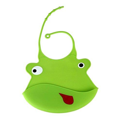 cartoni animati grembiuli pelle del bambino,  FEITONG conveniente grembiuli impermeabilizzazione pettorina (verde)