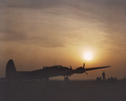 New 8x10 Photo: Silhouette of B-17 Flying Fortress