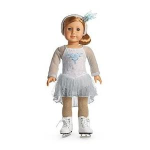 American Girl Mia's Silver Skate Dress
