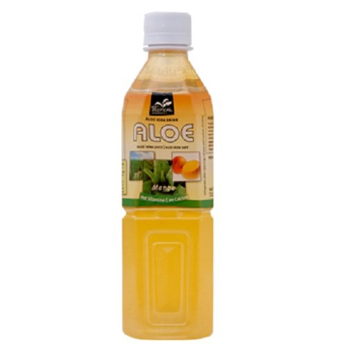 Tropical Aloe Vera Drink, Mango, 17.6 Ounce (Pack Of 12) front-378008