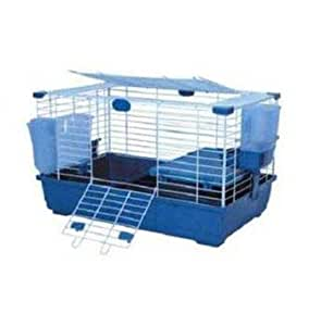 Marchioro Usa SMO34318 Model Tommy 72 Cage for Guinea Pigs, Beige/Blue