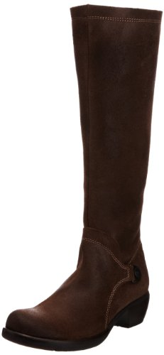 Fly London Women's Mistry Dk Brown Boston Knee High Boots P141035014 6 UK