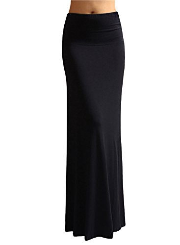 DJT - Gonna lunga Maxi mermaid tail - Donna Nero Small