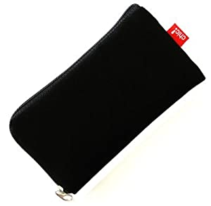 case borsa Soft Touch Neopren per Motorola RAZR V3, nero