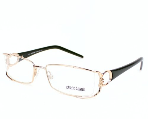Roberto Cavalli Eyeglasses Rc546 028 Metal Gold - Dark Green