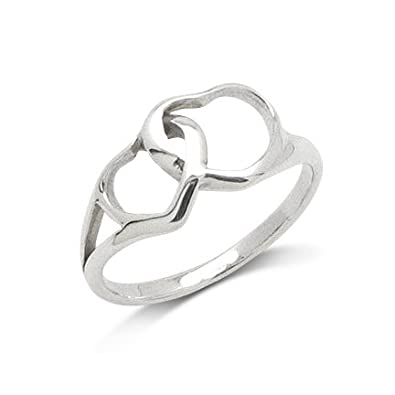 Double Hearts Sterling Silver
