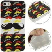 Moustache Pattern TPU Protection Case for iPhone 5 5S