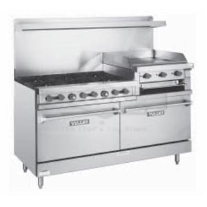 Vulcan 60 Inch Restaurant Range 6 Burner and 24 Inch Griddle LP