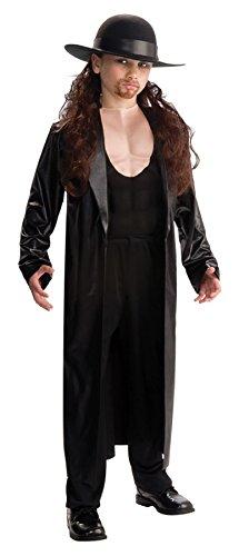[UHC Boy's Wwe Undertaker Deluxe Kids Child Fancy Dress Party Halloween Costume, M (8-10)] (Undertaker Childrens Costume)