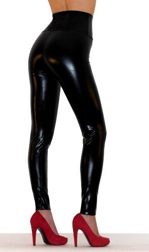 sodacoda-leggings-aspect-cuir-femme-plusieurs-couleurs-metalliques-noir-brillant-m