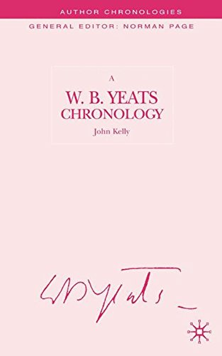 A W.B.Yeats Chronology, by J. Kelly