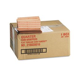 - Pop-Open Flat Paper Coin Wrappers, Quarters, $10, 1000 Wrappers/Box mystery mot 3333