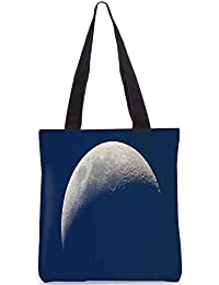 Snoogg Half Moon Digitally Printed Utility Tote Bag Handbag Made Of Poly Canvas - B01C8MBESE
