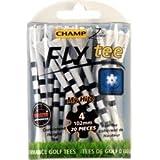 "Champ Myhite 4"" Golf FlyTees 20 Ct White/Black"