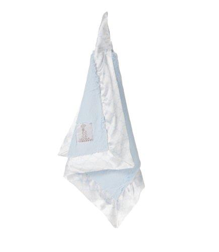 """Little Giraffe Luxe Moroccan Blanky, Blue, 14"""" x 14"""""""