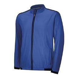 Adidas 2014 Men\'s ClimaProof Stretch Wind Jacket (Vivid Blue - L)