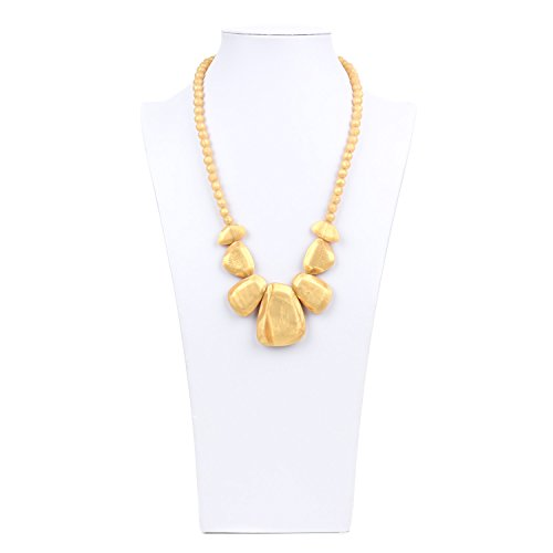 Bumkins Nixi Rocca Silicone Teething Necklace, Gold