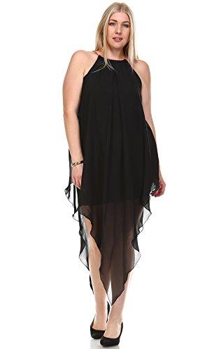 Zoozie LA Women's Plus Size Cocktail Dresses Asymmetrical Hem