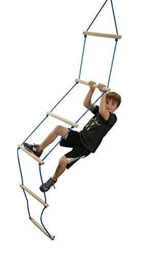 b4Adventure NinjaLine Ninja Rope Ladder, Blue, 8' (Ninja Warrior Equipment compare prices)
