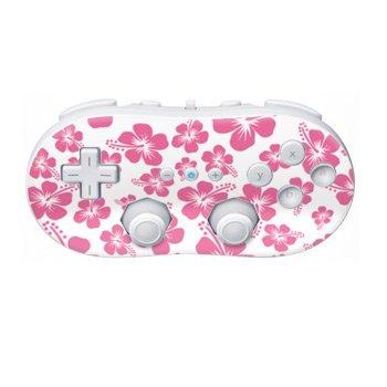 Nintendo Wii Controller Skin- Pink Hibiscus