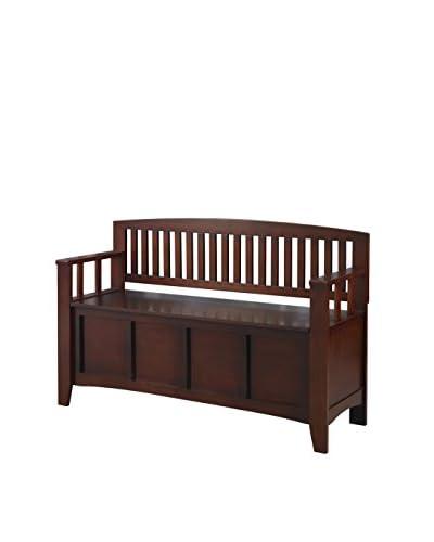 Linon Home Décor Cynthia Storage Bench, Walnut