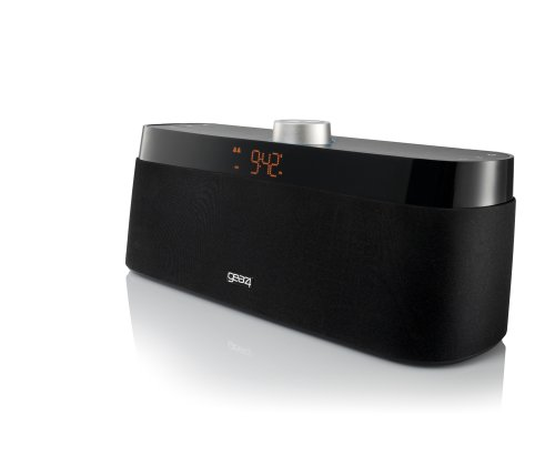 Gear4, Inc. Houseparty Rise Wireless Universal Stereo Speaker With Alarm Clock Radio (Black)