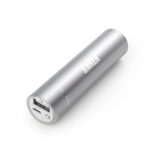 Anker® Astro Mini 3200mAh 超小型・スティックタイプ モバイルバッテリー 5V/1A iPhone6、iPhone5S、5C、5、4S/iPad Air/iPad Mini Retina/iPad Mini/iPad/iPod/Galaxy/Xperia/ASUS/Android/各種スマホ Wi-Fiルータ等対応(日本語説明書付き)PowerIQ搭載