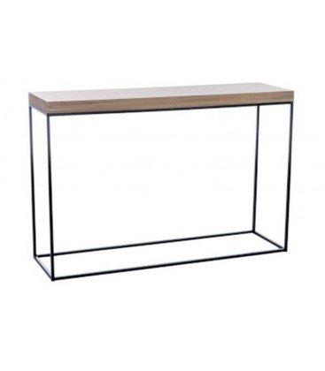 konsole 120 x 35 x80 cm holz und metall schwarz bergen. Black Bedroom Furniture Sets. Home Design Ideas