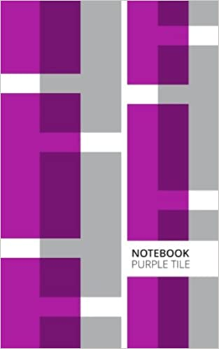 Purple Tile Lined Notebook