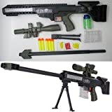 Sniper rifle plastic toy gun crystal paintball assembled springfield military