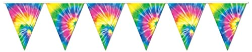 Tie-Dyed-Pennant-Banner-Party-Accessory-1-count-1Pkg