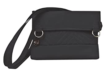 Travelon Luggage Quilted Fold-Over Shoulder Bag, Black, One Size