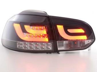 Led Taillights Vw Golf 6 Typ 1K Black With Led Indicator
