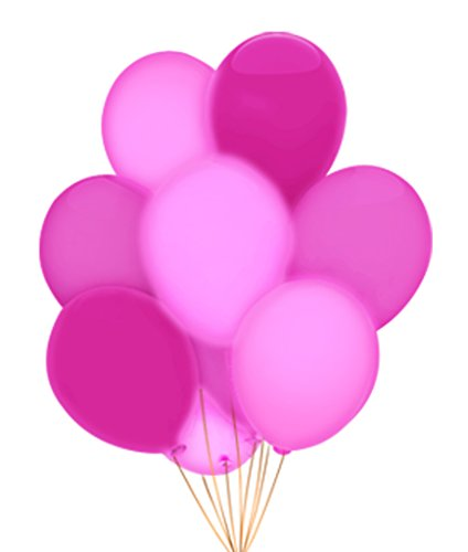 "Fun Central AH947 LED 14"" Blinky Balloons - Pink - 5ct"