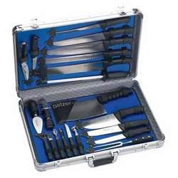Slitzer® 21-Pc. Professional Chef's Cutlery Set with Case