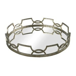 Sterling Industries 114-90 Iron Scroll Mirrored Tray