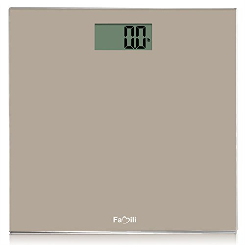 Famili FM272BT Digital Bathroom Body Weight Scale 400lbs/180kg, Golden