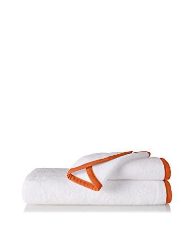 Montague and Capulet Love To Splash 3-Piece Towel Set, White/Orange