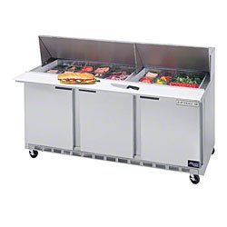"Beverage Air Spe72-24M 72€ Mega Top Sandwich/Salad Prep Table €"" Elite Series front-7407"