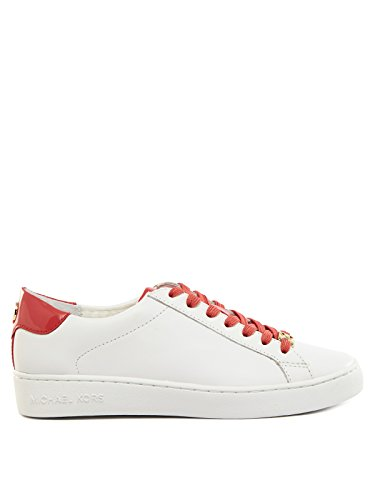 Michael Kors 43R6IRFS1L Sneakers Donna 100% Pelle Bianco/rosa Bianco/rosa 37