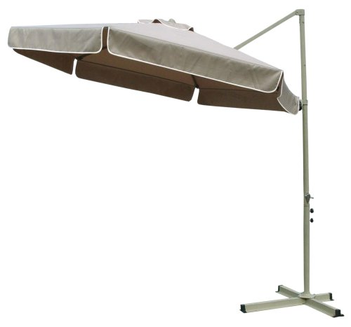 Southern Patio 10 Foot Round Simple Top Aluminum Umbrella, Taupe