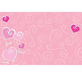 Happy Valentine's Day Hugs Kisses Joyful Hearts Enclosure Cards 50 Pack- Gift Supplies