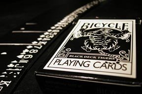 Bicycle BLACK Tiger Playing Cards Deck by Ellusionist (RARE)