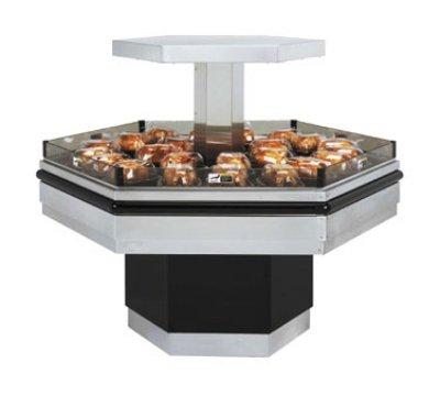 BKI BHI-5 240 Self-Serve Hot Deli Island Display w/ 34-Chicken Capacity, 1-Shelf, 240/1 V, Each