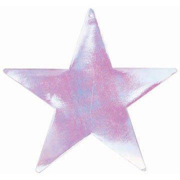 cutout 12 inches foil star 5pk irid
