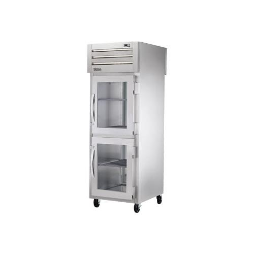 True Food Service Equipment Sta1Rpt-2Hg-1S Pass-Thru Refrigerator W/2 Glass Front & 1 Ss Rear Doors