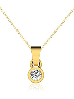 Friendly Diamonds Conjunto de cadena y colgante FDP6244Y Oro Amarillo
