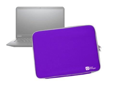 DURAGADGET Purple Water & Shock Resistant Soft Case With Dual Zips For Lenovo ThinkPad Edge E531 & Lenovo Flex 2D (14 inch)