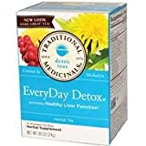 Traditional Medicinals, EveryDay Detox, Herbal Tea, 16 Wrapped Tea Bags, 0.85 oz (24 g)